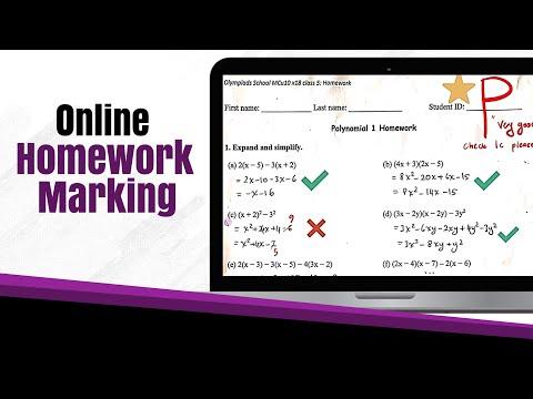Online Teaching: Marking Homework and Giving Feedback