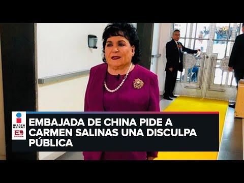 Embajada de China pide a Carmen Salinas que se disculpe