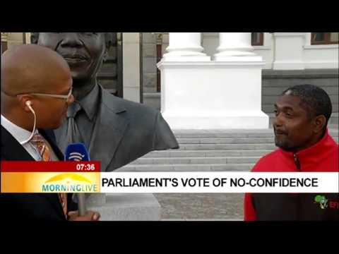 Three major political parties on parliament's vote of no-confidence