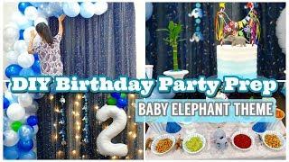 DIY Birthday Decoration Ideas | Baby Elephant Theme Party Decor Ideas at Home | How To Tutorial
