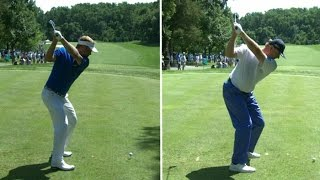 Billy Hurley III and Ernie Els' slo-mo swing is analyzed at Quicken Loans