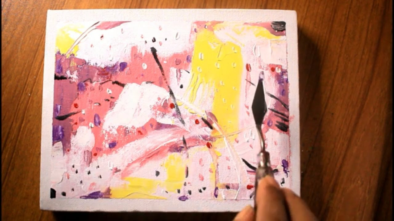 how to paint abstract art/easy abstract painting/pallete knife abstract painting/project#32