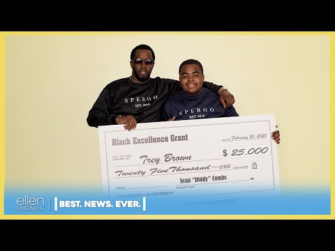 'Best. News. Ever.': Sean 'Diddy' Combs and Jeannie Surprise Deserving Fan Trey Brown