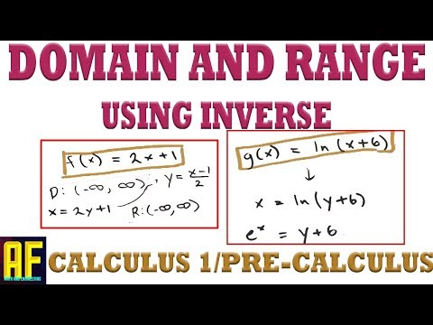 Finding the Domain and Range of Functions - Introduction to Calculus
