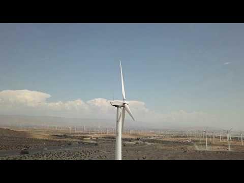 Dji Mavic Drone Fly By Palm Springs wind energy windmills