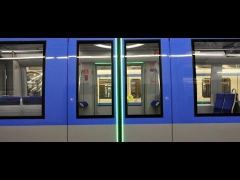 Mitfahrt im neuen c2 Zug München U6 von Odeonsplatz - Münchner Freiheit