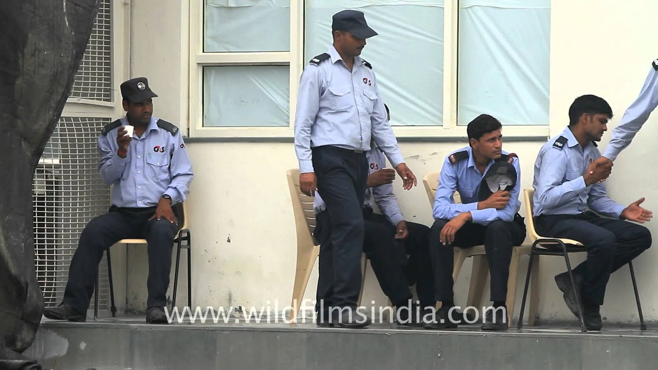 g4s private security personnel outside maruti suzuki plant after violence