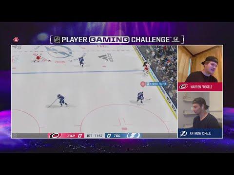 NHL Player Gaming Challenge: Hurricanes' Warren Foegele Vs. Lightning's Anthony Cirelli   NBC Sports
