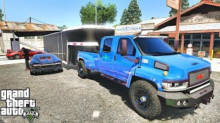 GTA 5 REAL LIFE MOD #557 - ENCLOSED CAR DELIVERY!!! (GTA 5 REAL LIFE MODS)