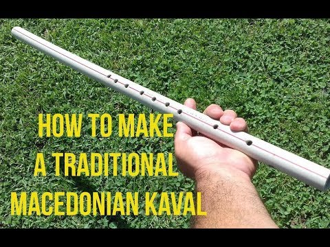 How to make a traditional Macedonian KAVAL PVC pipe / Musical instrument DIY for FUN