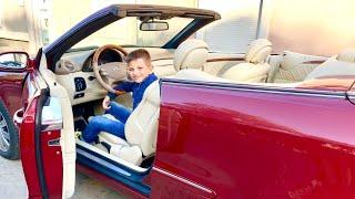 За рулем новой машины MERCEDES cabrio ???? Обзор  кабриолет. Дети и машина ????