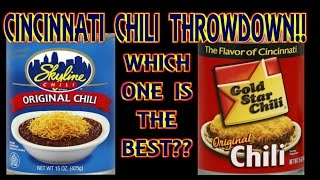 Cincinnati Chili Throw-down!! | Skyline vs. Gold Star Chili | WHAT ARE WE EATING?? | The Wolfe Pit