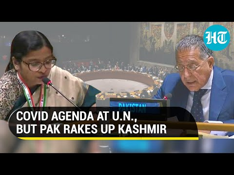 Watch: India's fiery response to Pakistan as Islamabad uses UN forum on Covid for 'hate speech'