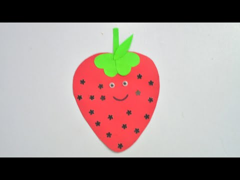 How To Make Paper Strawberry || DIY Strawberry || Origami || Strawberry Paper Craft