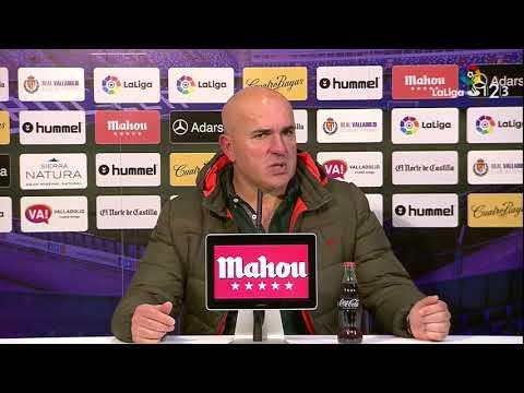 Rueda de prensa de Luis César Sampedro tras el Real Valladolid vs CD Numancia (2-3)