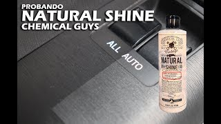 Probando el acondicionador de plásticos Natural Shine de Chemical Guys!
