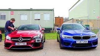 BMW M5 vs Mercedes E63 S Walkaround | Top Gear: Series 26