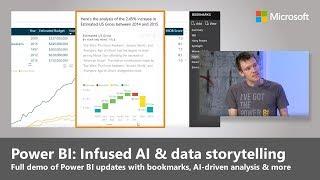 Neue AI-driven analytics-und Daten-storytelling in der Power BI