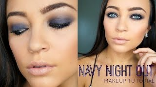 Navy Night Out ♡ Makeup Tutorial (DRUGSTORE) Thumbnail