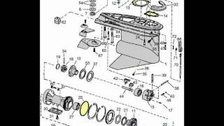 OMC parts drawings 400-800 Stringer outdrives