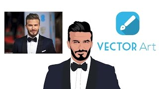 Tutorial Vector Portrait(Timelapse) | Infinite Design | Android