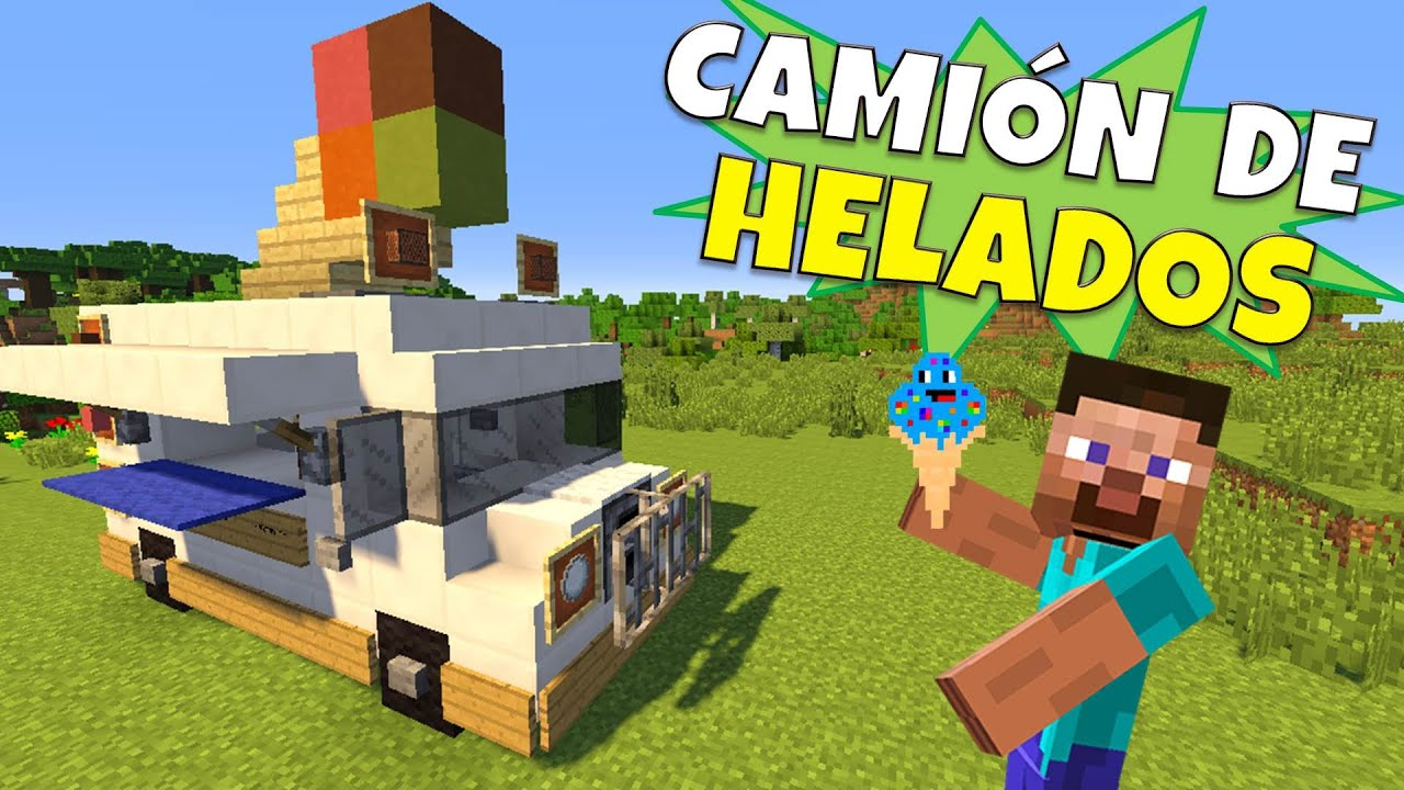 Minecraft como hacer un camion de helados ice cream for Casa moderna rey zerch