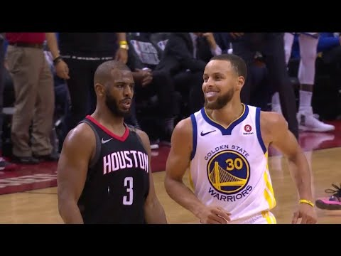 Chris Paul Shimmys on Stephen Curry - Game 5 | Warriors vs Rockets | 2018 NBA West Finals