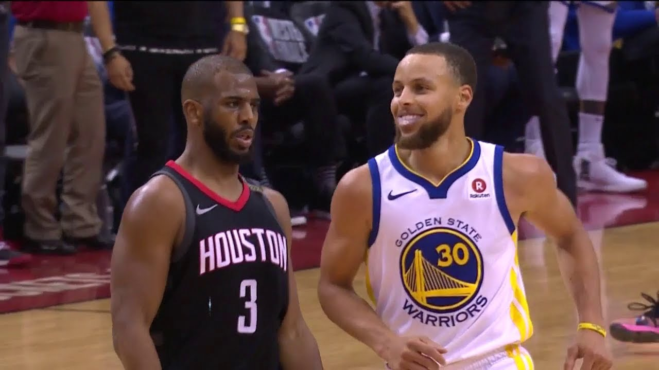 Chris Paul Shimmys on Stephen Curry - Game 5 | Warriors vs Rockets | 2018 NBA West Finals - YouTube