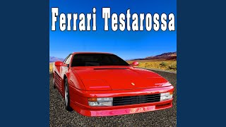 Ferrari Testarossa Accelerates Quickly to a High Speed with Tire Squeal