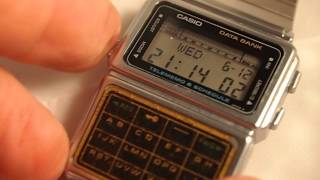 Vintage Casio DBC-600 Data Bank + Calculator Watch from the 80's Made in Japan