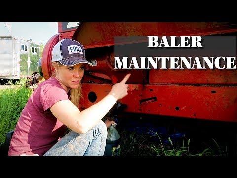 Maintenance On The New Holland 575 Square Baler  - Hay Season Prep 2019