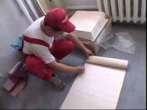 Наклейка и покраска обоев на потолок - YouTube