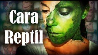 Maquillaje Halloween Media cara reptil Makeup FX #33 | Silvia Quiros