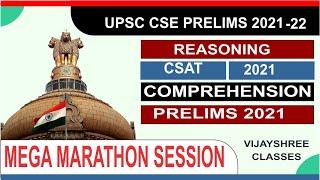 Complete CSAT - Reasoning and Comprehension  | UPSC CSE Prelims 2021/2022  Hindi |