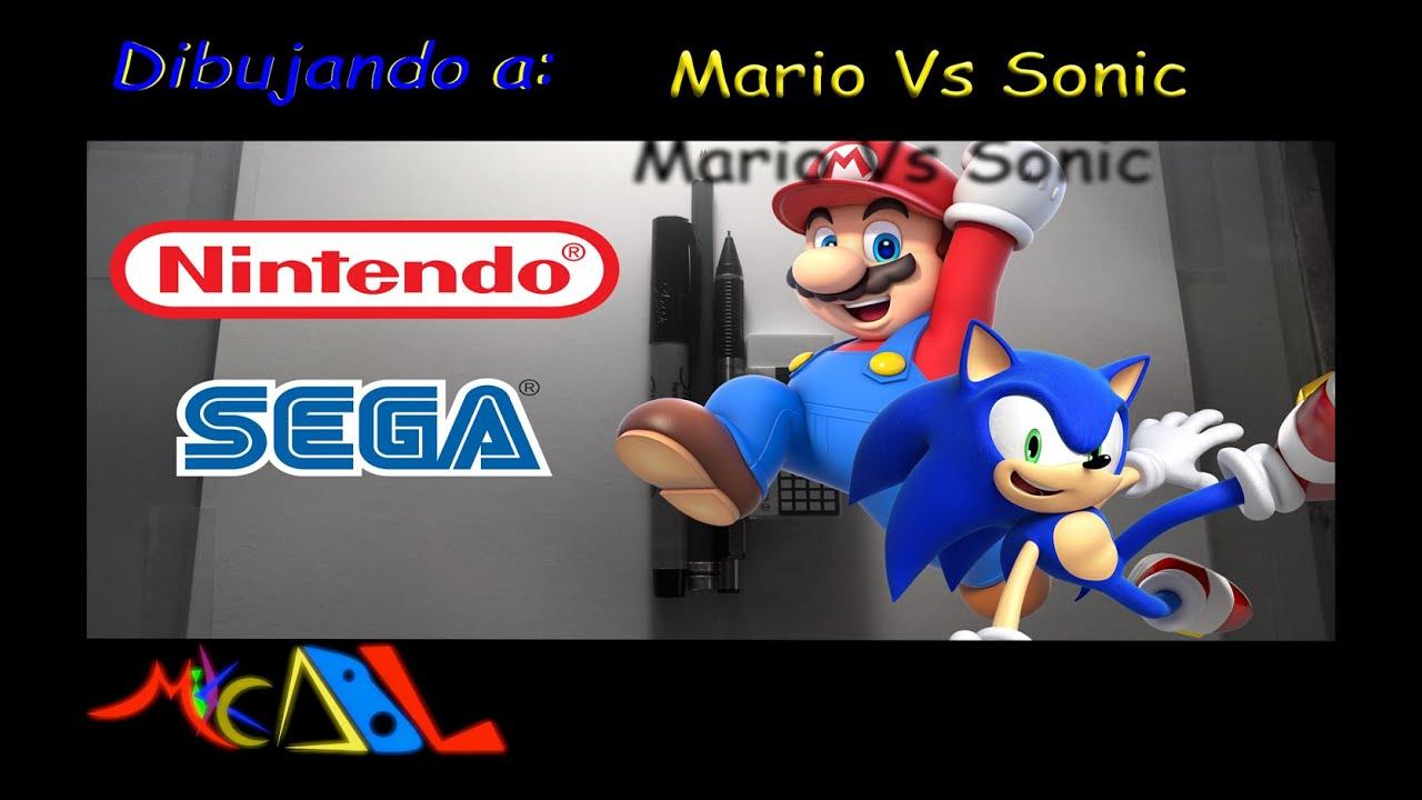 Dibujando a Mario Vs Sonic  YouTube