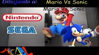 Dibujando a: Mario Vs Sonic