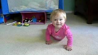 Haley Crawling on 9-22-2008