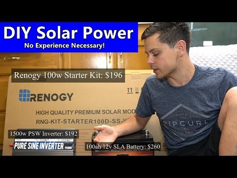 Build Your First Solar Power System! Beginner Tutorial Easily Explained, Budget Friendly