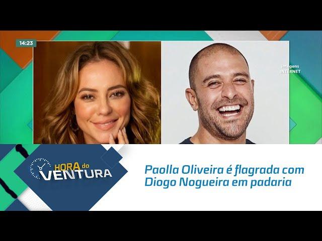 Alerta casal: Paolla Oliveira é flagrada com Diogo Nogueira em padaria