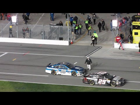 2015 Budweiser Duel 1 Dale Earnhardt Jr win from the Stands