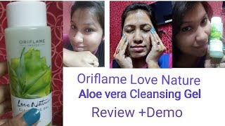 Oriflame Love Nature Aloe vera Cleansing Gel All ages Review & Demo