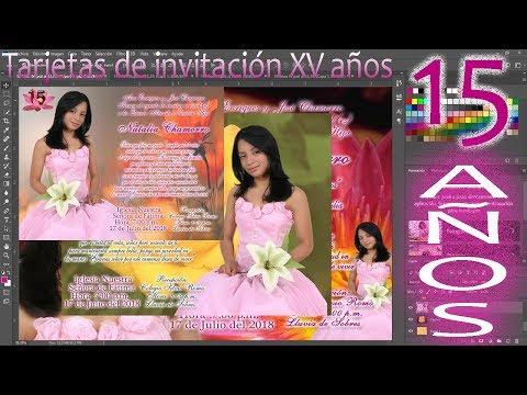 7 Tarjetas De Invitacion Xv Años Editables Medida Exacta