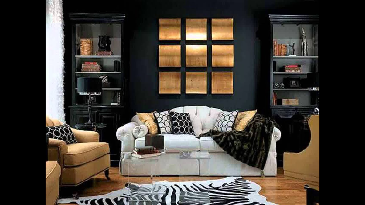 Black white and gold living room ideas youtube for Living room ideas gold
