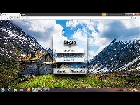 Asp.net Login Page Design 3D & Transparent Page using Bootstrap