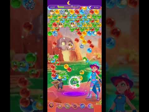 Bubble Witch 3 Saga Level 1447 ~ TWO BOOSTERS at the end