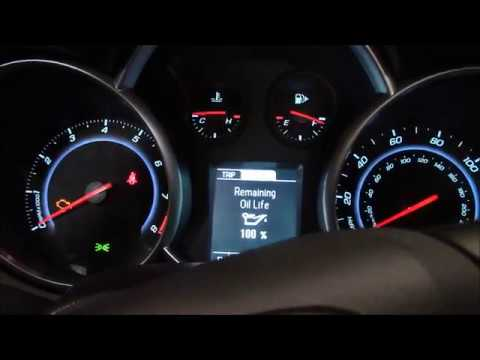 How To Reset The Oil Maintenance Light On A 2013 Chevy Cruze Youtube