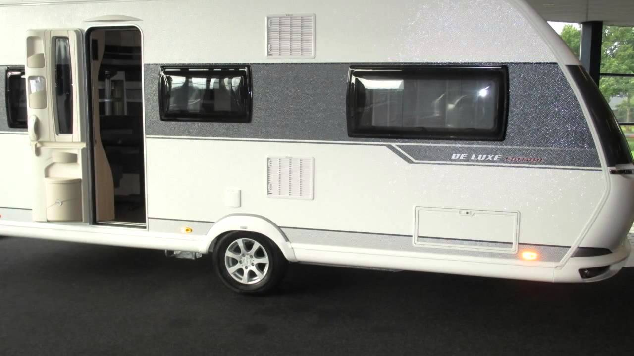 caravan te koop hobby de luxe edition 495 ul youtube. Black Bedroom Furniture Sets. Home Design Ideas