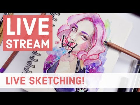 LIVE Sketching in my Sketchbook 【Watercolor, Copic and Pencil Sketches】