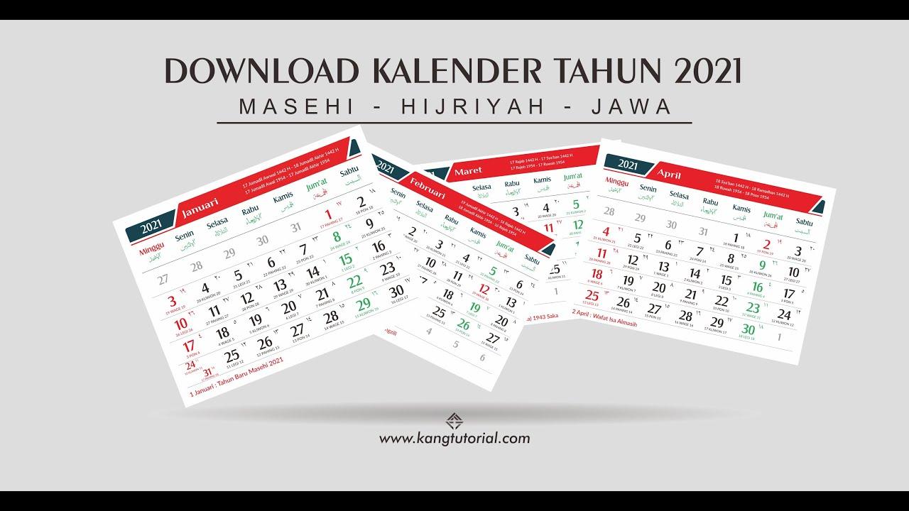 Download Desain Template Kalender 2021 Gratis Lengkap ...