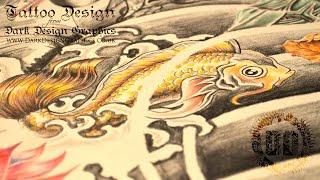 Japanese Sleeve Tattoo Design - Speed Drawing